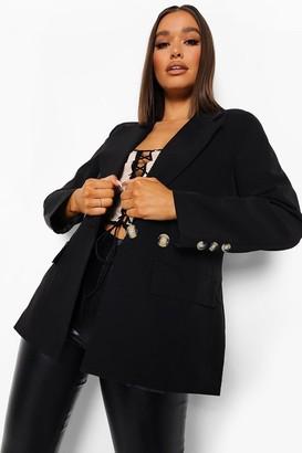 boohoo Oversized Button Front Blazer
