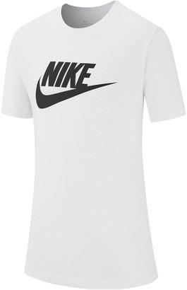 Nike Boys NSWFutura Icon Short Sleeve T-Shirt - White
