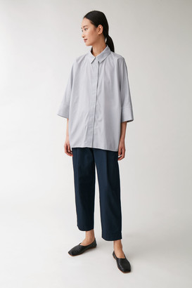 Cos Wide Square-Cut Cotton Shirt