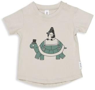 Huxbaby Baby's & Little Boy's Wilderness Turtle-Print T-Shirt