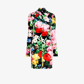 Richard Quinn Twisted neck floral mini dress