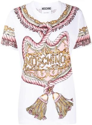 Moschino rope print T-shirt