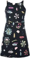 Moschino vanity print dress - women - Cotton/Polyester/other fibers - 42