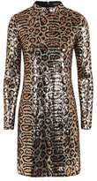 Topshop Animal print high neck dress