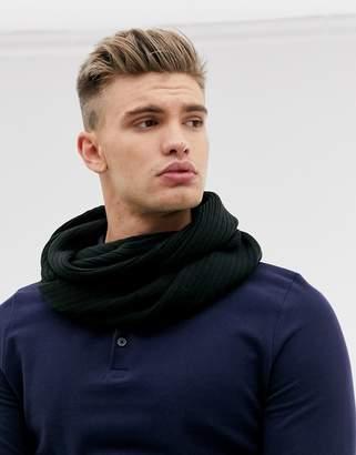 Jack and Jones snood scarf in black