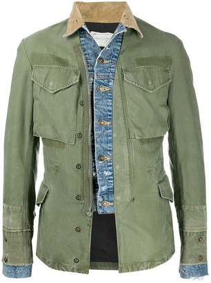 Greg Lauren Denim-Trim Utility Jacket