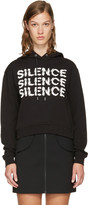 McQ by Alexander McQueen Black Cropped 'Silence' Hoodie