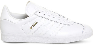 adidas Gazelle lace-up leather trainers, Mens, Size: 5, White white