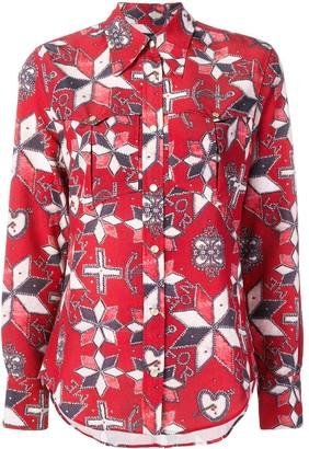 Isabel Marant geometric print shirt