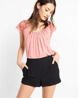 Express mid rise soft crepe shorts