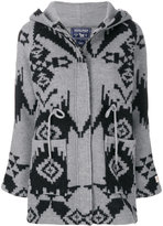 Woolrich coat with geometric print