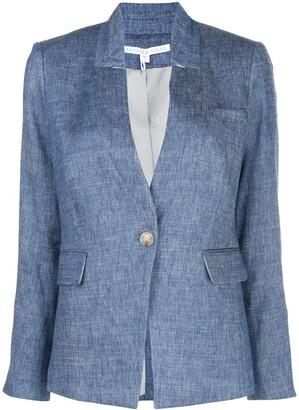 Veronica Beard Slim-Fit High-Collar Blazer