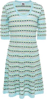 M Missoni Crochet-knit Wool-blend Mini Dress