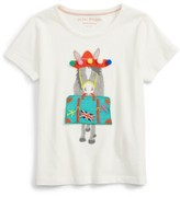 Toddler Girl's Mini Boden Vacation Applique T-Shirt