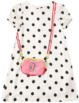Little Marc Jacobs Dots Print Satin Dress
