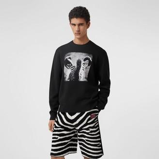 Burberry Zebra Wool Jacquard Sweater