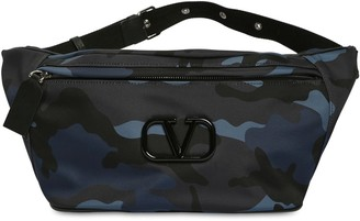 Valentino Camo Print Tech Nylon Belt Bag