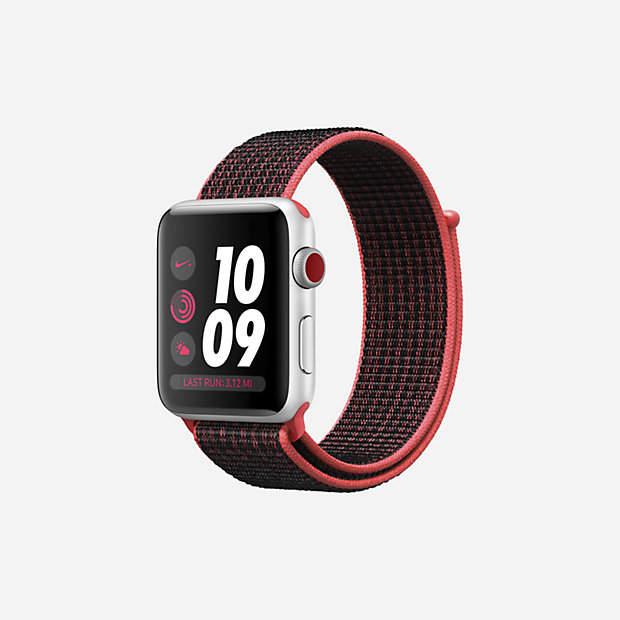 Nike Apple Watch Series 3 (GPS + Cellular) 42mm Running Watch