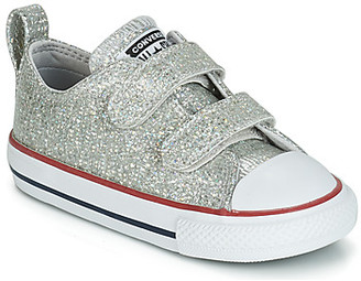 Converse CHUCK TAYLOR ALL STAR 2V SPARKLE SYNTHETIC OX girls's Shoes (Trainers) in Grey
