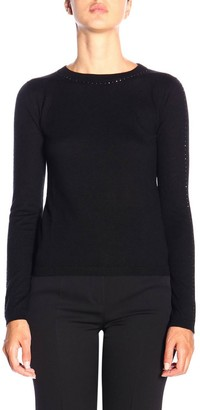 Max Mara Solange Sweater In Cashmere And Silk With Rhinestones