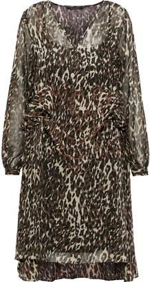 Walter W118 By Baker Adam Ruffled Leopard-print Chiffon Dress