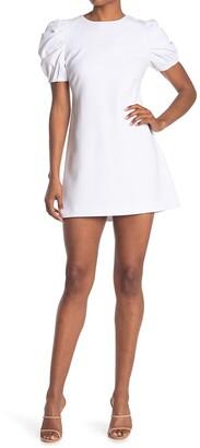 Alice + Olivia Hanita Puff Sleeve Shift Dress