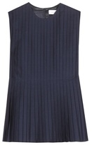 Victoria Beckham Denim Pleated Top