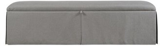 """Ryan Storage Bench Duralee Furniture Body Fabric: Gray, Size: 21"""" H x 48"""" W x 18"""" D, Inside Color: Tan"""