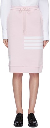 Thom Browne Stripe drawstring French terry sack skirt