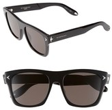 Givenchy Women's 55Mm Square Sunglasses - Black/ Brown Grey