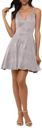Xscape Evenings V-Neck Mini Dress