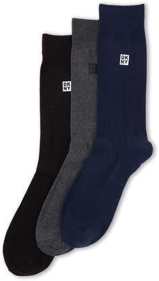 DKNY 3-Pack Micro Pique Crew Socks