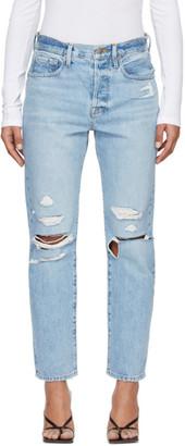 Frame Blue Le Original Mix Pocket Jeans