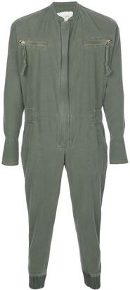Greg Lauren long sleeve utility jumpsuit