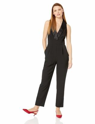 Eliza J Women's Sleeveless Tuxedo Jumpsuit