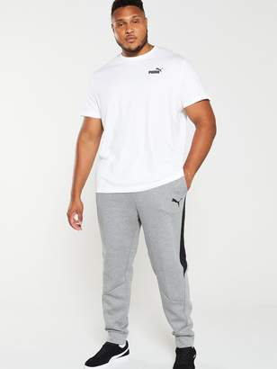 Puma Plus Size Evostripe Core Joggers- Grey