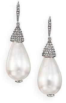 Oscar de la Renta Women's Faux Pearl & Crystal Teardrop Earrings