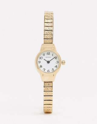 Sekonda expandable watch in gold 20mm