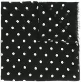Saint Laurent polka dot print scarf - women - Silk/Cashmere - One Size