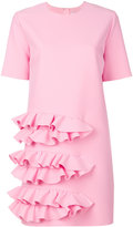 MSGM frill T-shirt dress - women - Polyester/Spandex/Elastane/Viscose - 40