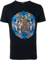 Roberto Cavalli Circle print T-shirt - men - Cotton - M