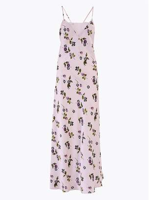 Rosie For AutographMarks and Spencer Rosie Satin Rose Print Long Nightdress
