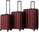 Burgundy Vortex Spinner Three-Piece Luggage Set