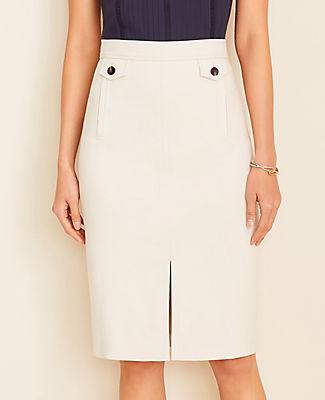 Ann Taylor Petite Button Pocket Pencil Skirt