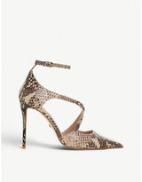 Dune Divaa leather court shoes