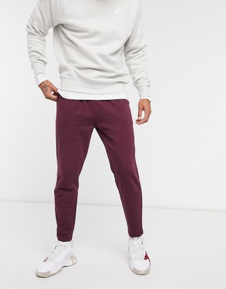 ASOS DESIGN co-ord pleated jersey joggers in burgundy