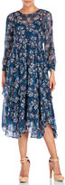 Rebecca Taylor Floral Silk Tiered Dress