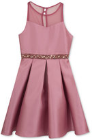 Rare Editions Rose Satin Dress, Big Girls (7-16)