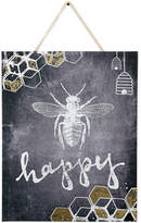 Graham & Brown Canvas Bee Happy Wall Art