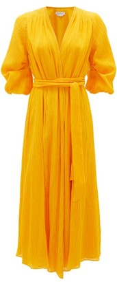 Gabriela Hearst Demeter Cotton-blend Gauze Wrap Dress - Yellow